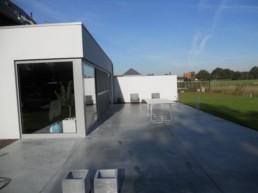 Terras betonvloer