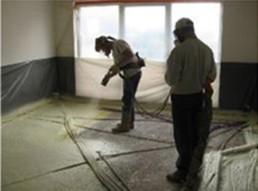 Van Rooy betonvloeren, Pur vloerisolatie spuiten